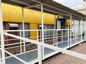 琴浦工場に渡り廊下を設置